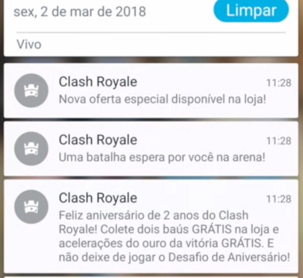 Baús Grátis no Clash Royale