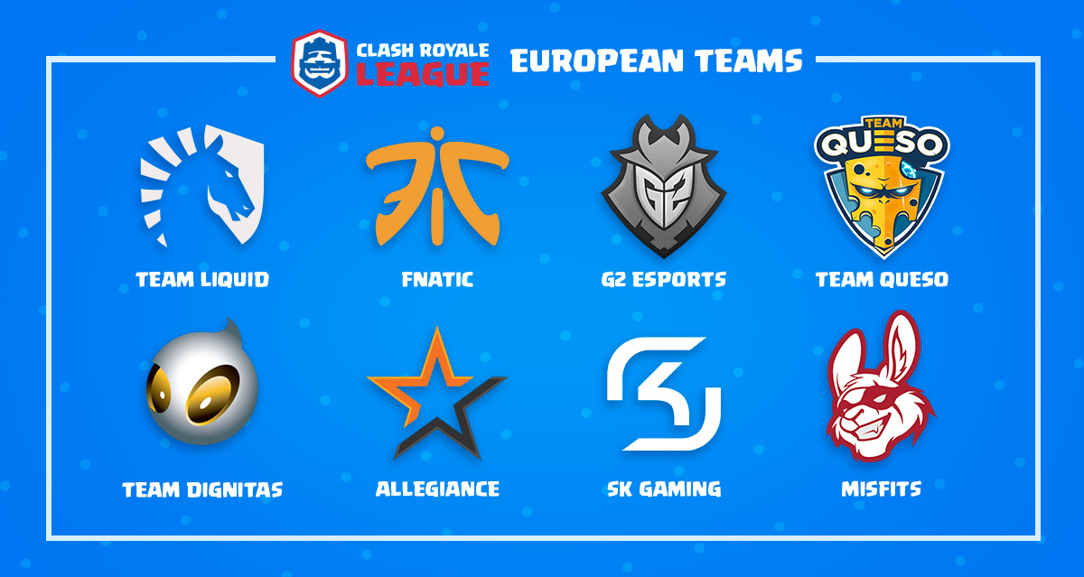 Times da Clash Royale League