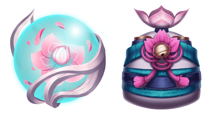 orbe spirit blossom e sacolinha do evento.