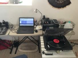 LP digitizing station