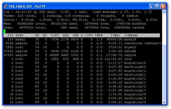 Utilisation de la commande TOP et notion de load average sous Linux. 2
