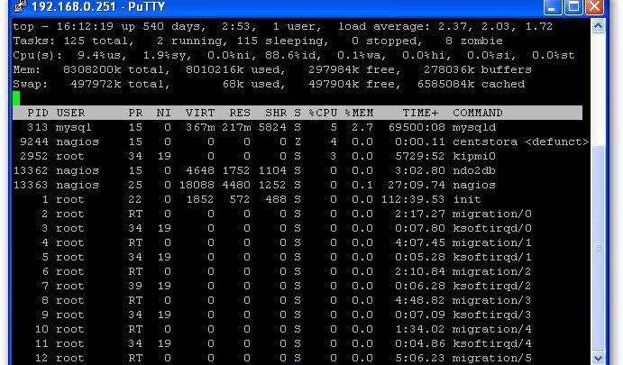 Utilisation de la commande TOP et notion de load average sous Linux. 1