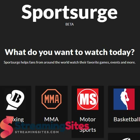 SportSurge 30 Free Sports Streaming Sites Like
