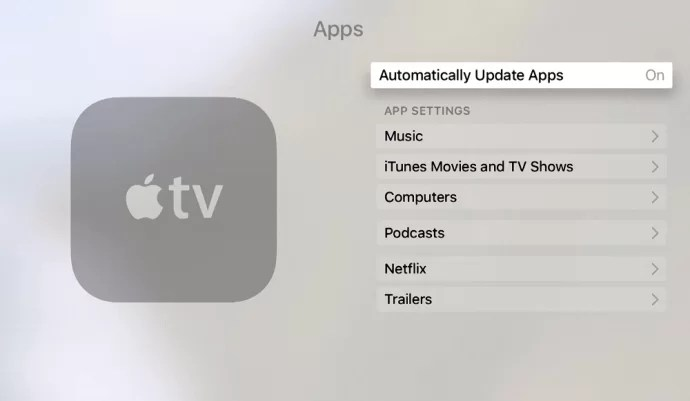 Choose Automatically Update Apps