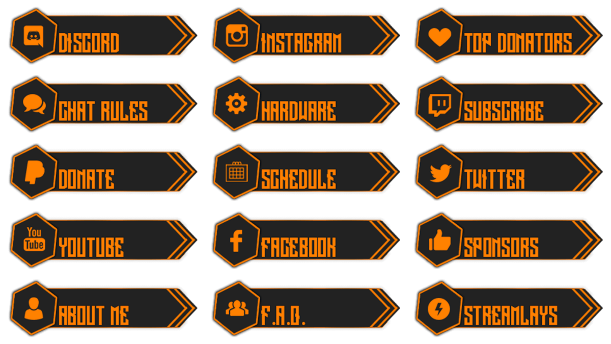 free twitch buttons download