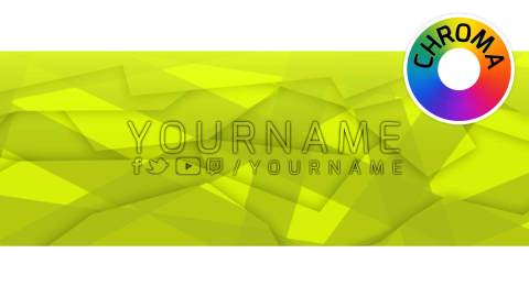 yellow facebook banner template psd