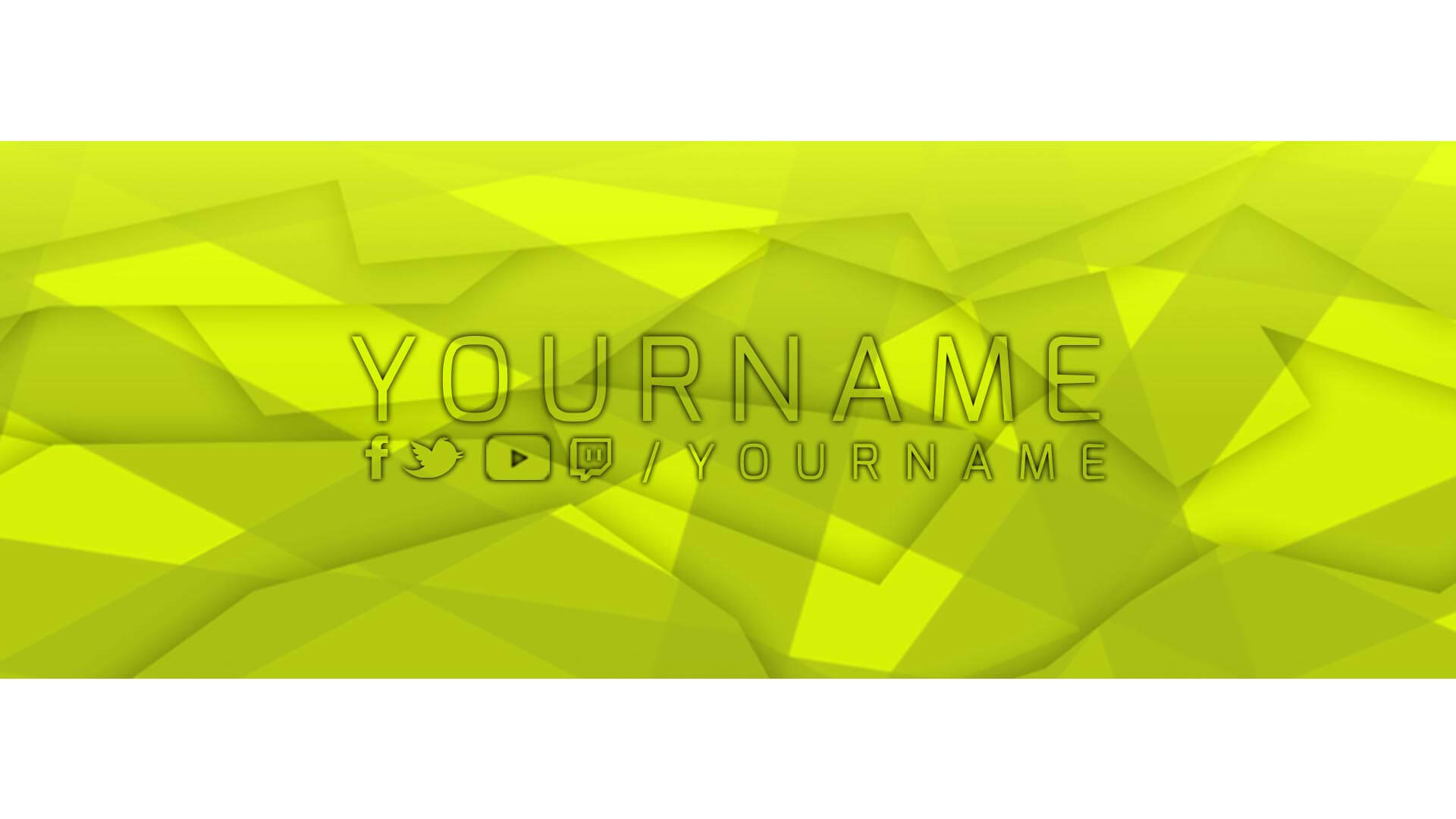 facebook banner yellow template