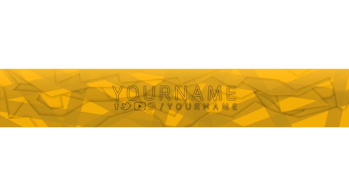 orange youtube banner