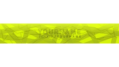 yellow youtube banner template