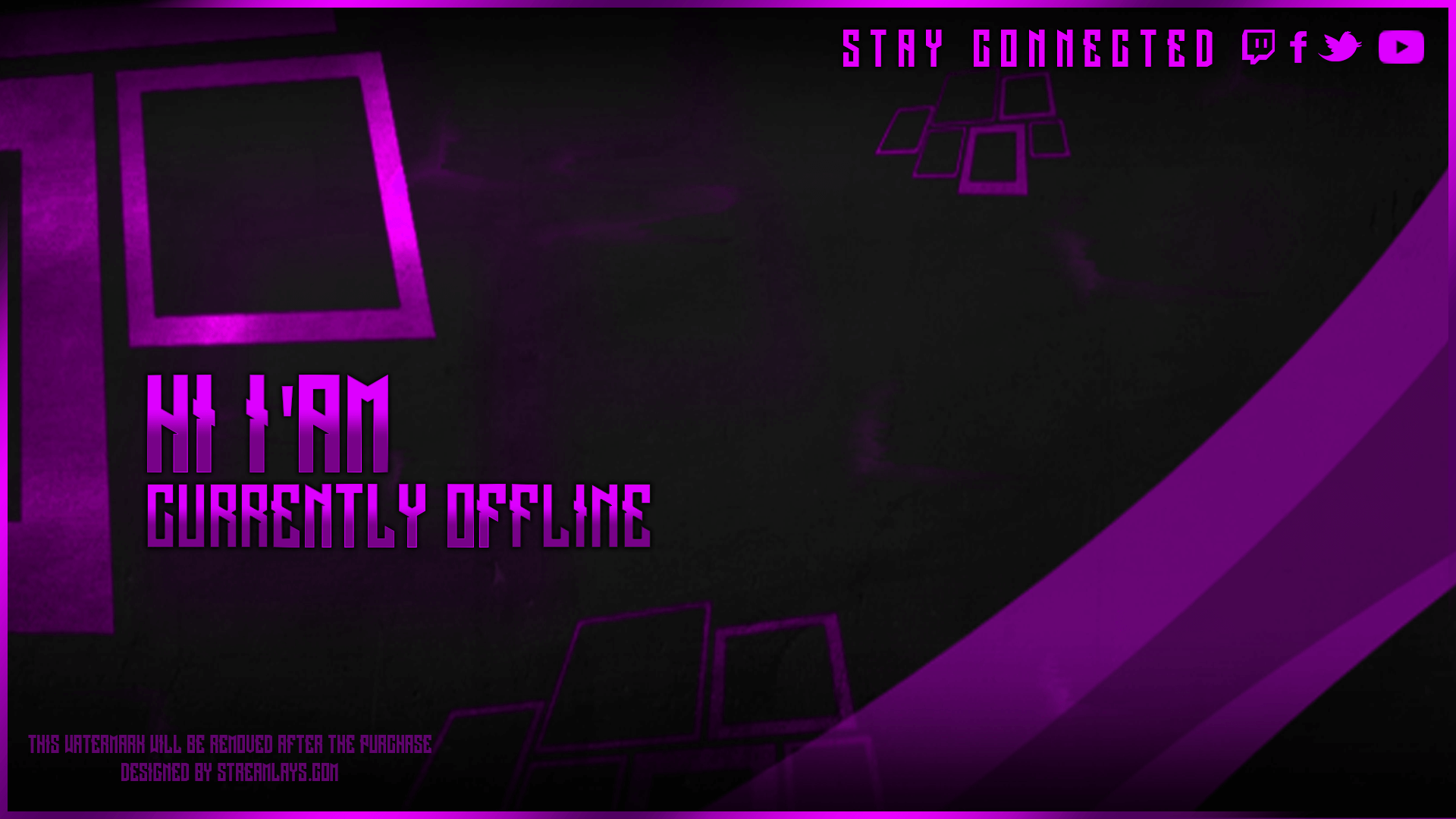 twitch offline screen free
