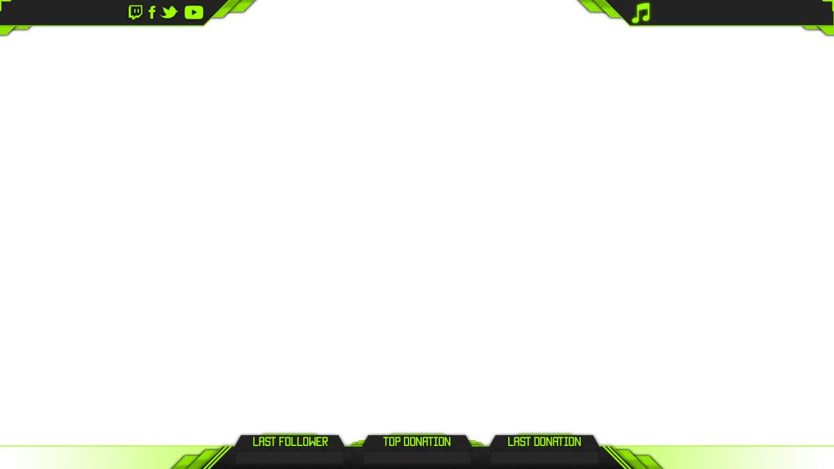 template twitch overlay green