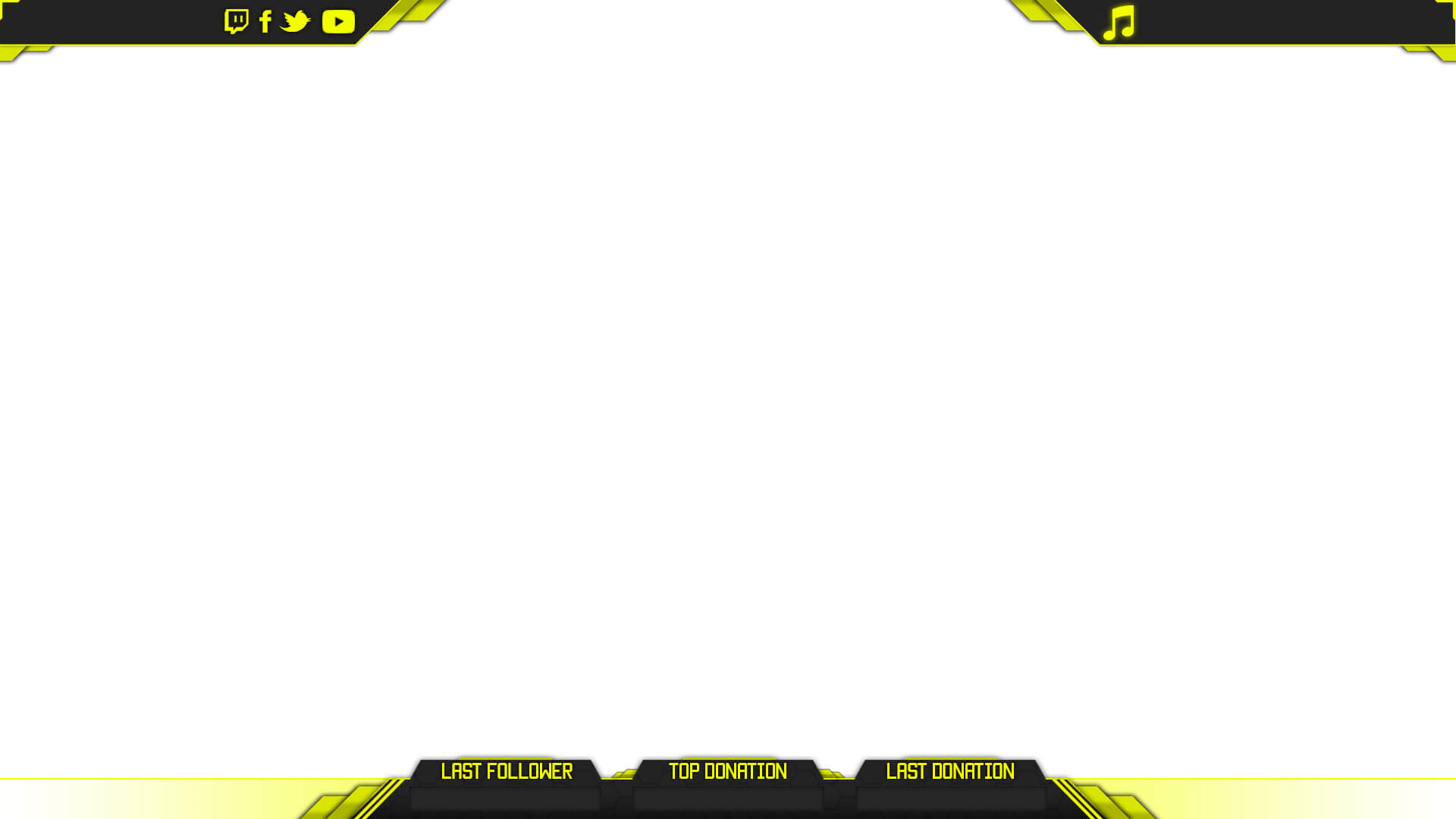 yellow youtube gaming overlay
