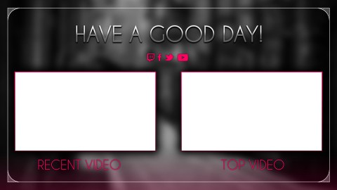 youtube endcard template