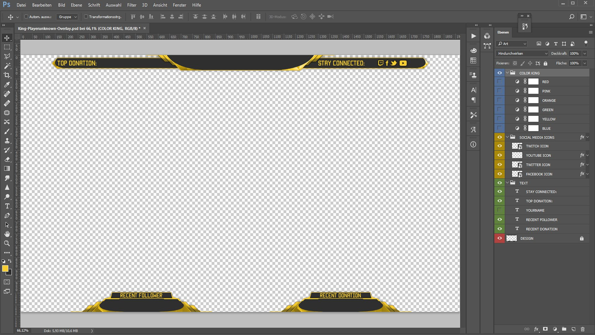 create and edit twitch overlay