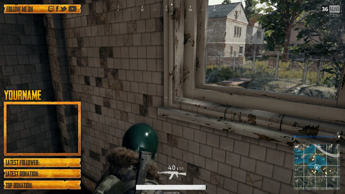 PUBG Twitch Overlay Template