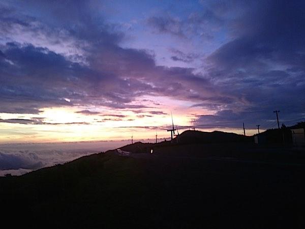大河原高原 日の出前
