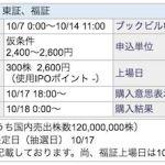 SBI証券でJR九州のIPO申し込み