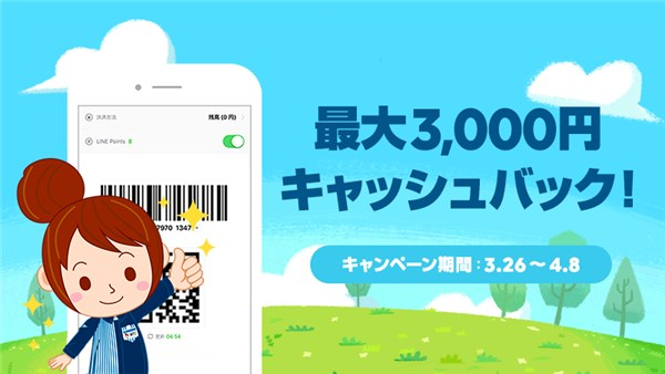 LINE Pay使用で15%キャッシュバック