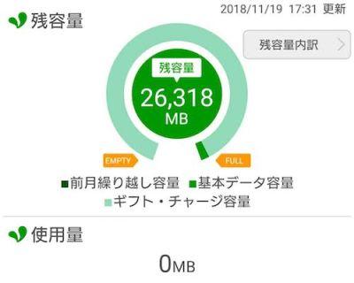 mine 新SIM 残容量