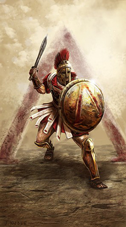 Hoplite by The Noble Artist