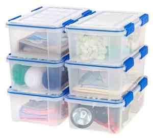 clear storage bins for toy organization
