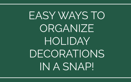 How to Organize Holiday decorations in a snap