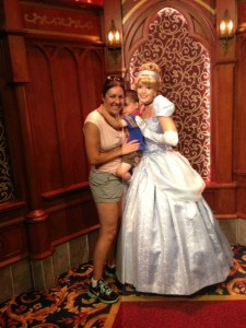 "We hit the Royal Hall to meet some princesses, because Search informed me he ""needed to give Cinderella a hug."""