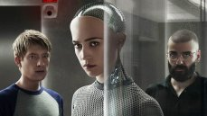 Domhnall Gleeson, Alicia Vikander, and Oscar Isaac in Ex Machina