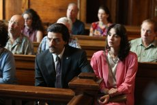 Oscar Isaac and Carla Quevedo in the HBO series Show Me a Hero from David Simon