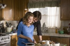 Keri Russell and Nathan Fillion in 'Waitress,' the sweet, sour and sexy film by actress-turned-filmmaker Adrienne Shelly.