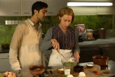 """When Hassan Kadam (Manish Dayal) and his family move from India to a village in the South of France, they open a restaurant and encounter Madame Mallory, (Academy Award®-winner Helen Mirren) the chef proprietress of a classical Michelin-starred French restaurant across the street. Cultures collide, but they eventually find common ground through their love of cooking, in DreamWorks Pictures' charming film, """"The Hundred-Foot Journey."""" Based on the novel """"The Hundred-Foot Journey"""" by Richard C. Morais, the film is directed by Lasse Hallström. The producers are Steven Spielberg, Oprah Winfrey and Juliet Blake. Photo: François Duhamel ©2014 DreamWorks II Distribution Co., LLC. All Rights Reserved."""