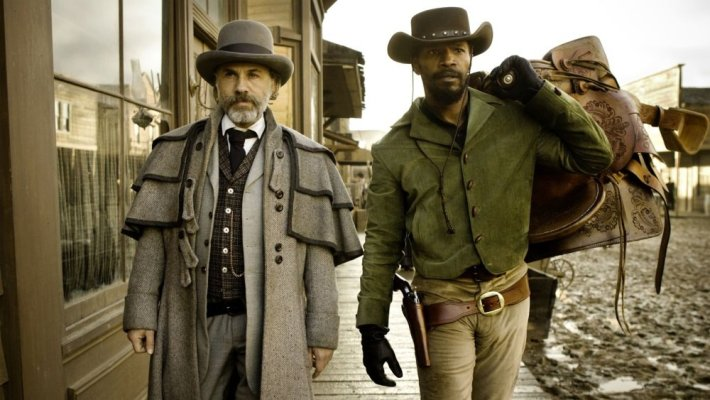 Jamie Foxx, Christoph Waltz, Kerry Washington, and Leonardo DiCaprio star in Quentin Tarantino's western