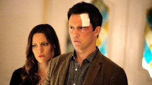 Jeffrey Donovan and KaDee Strickland in Hulu's 'Shut Eye'