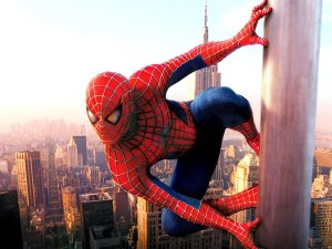 Tobey Maguire stars on Sam Raimi's big screen superhero movie