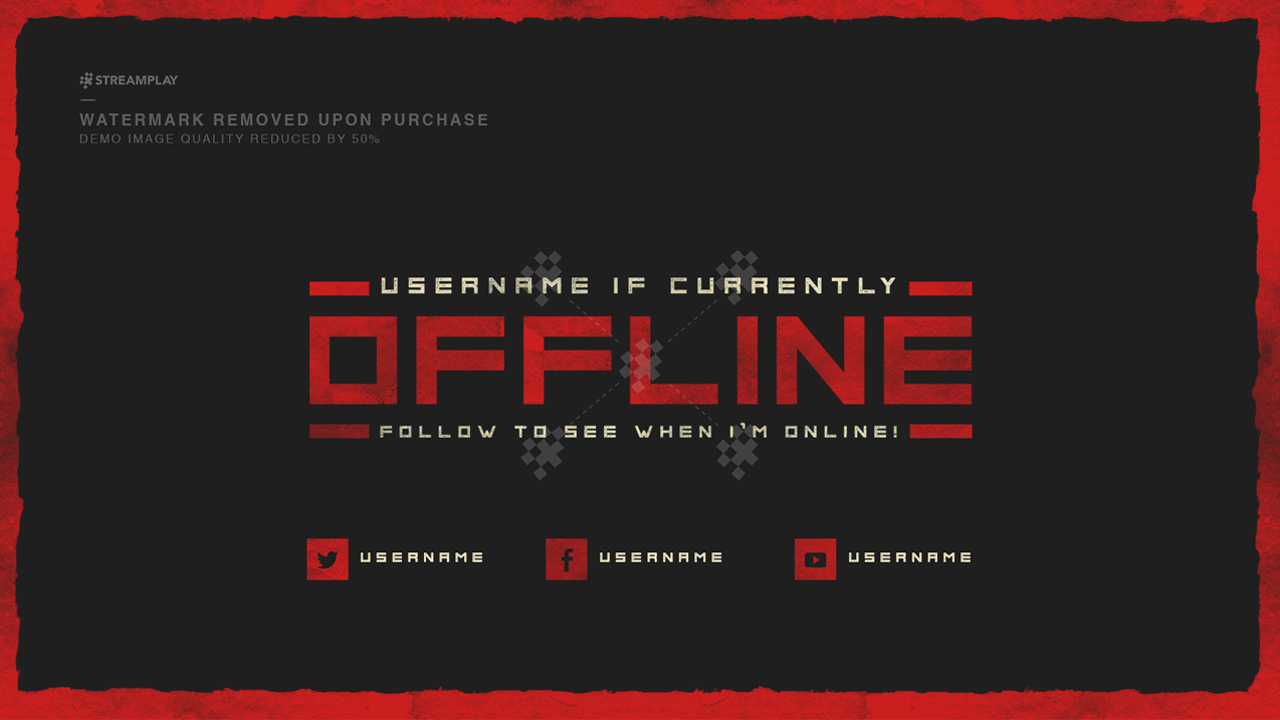 Twitch offline banner templates offline screens for your for Twitch layout template