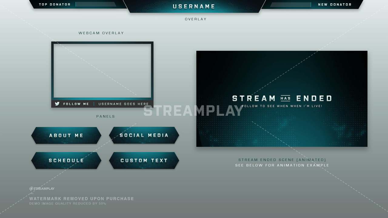 twitch panels custom downloadable panel templates streamplay