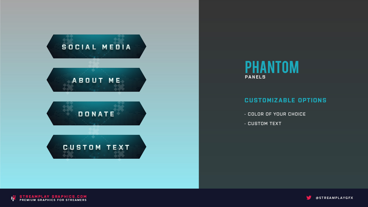 preview of 4 Phantom Twitch panels