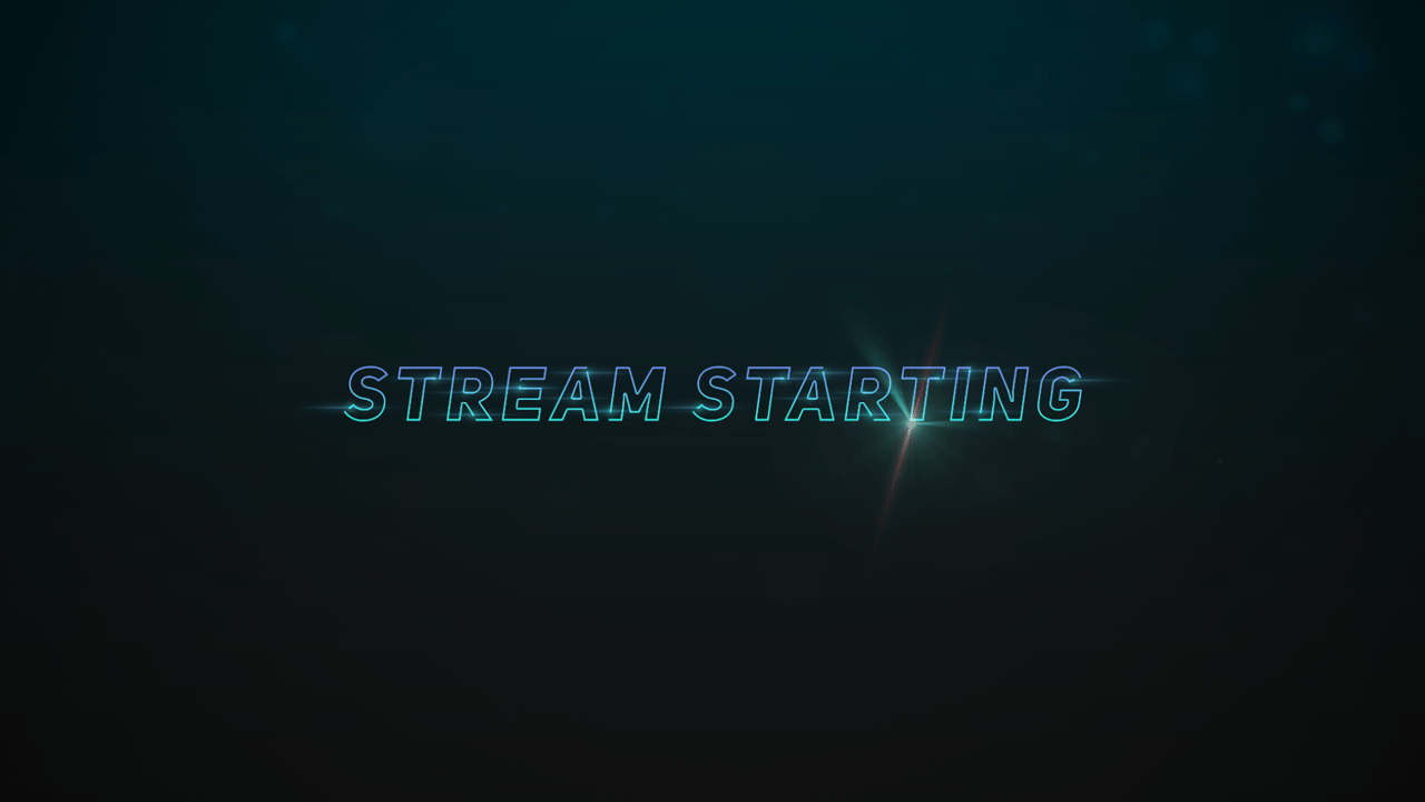 animated starting soon screen