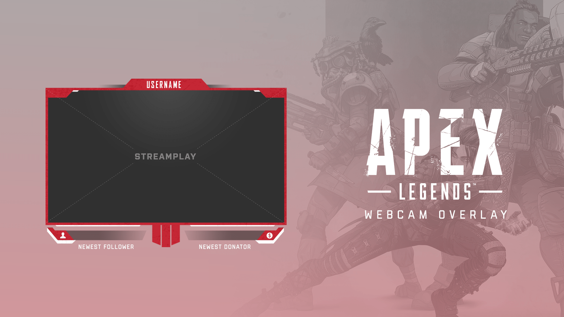 apex legends inspired webcam overlay