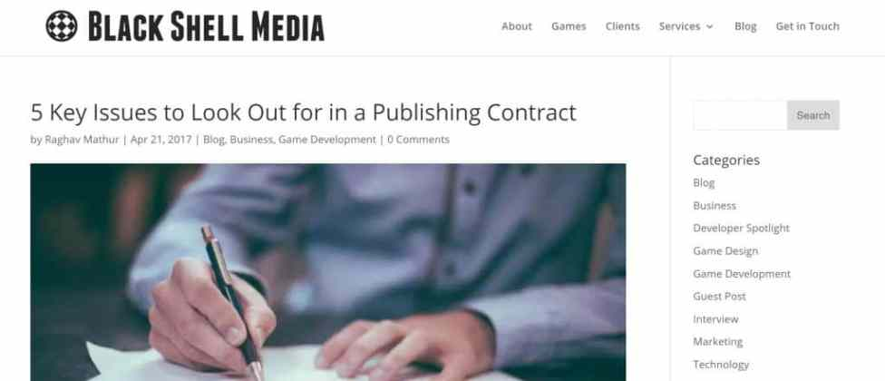Indie dev publishing agreements - what to watch out for