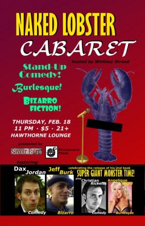 Naked Lobster Cabaret: Comedy, Burlesque & Bizarro Fiction