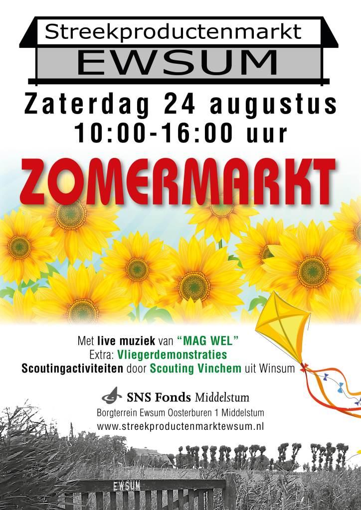 24 augustus – Zomermarkt bij Ewsum in Middelstum