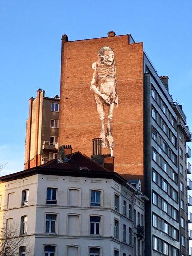 Bonom - Street artist belge Porte de Hal, Bruxelles