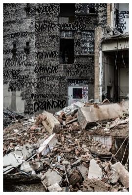 Les murs travaillés de Denis Meyers ©Sébastien Alouf