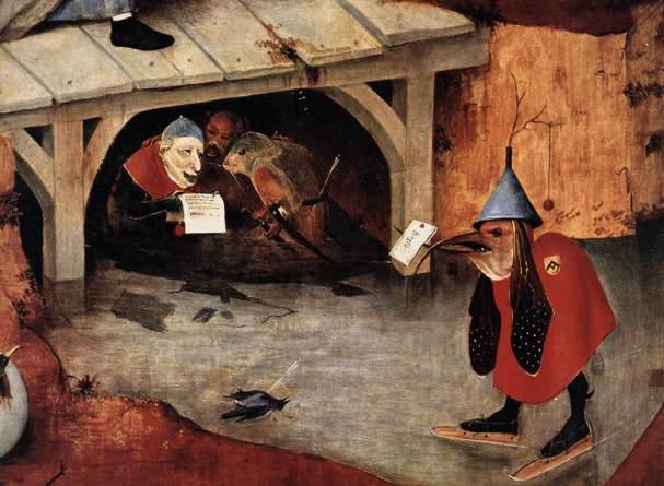 Détail du tableau de Jérôme Bosch, La Tentation de saint Antoine, ou Triptyque de la Tentation de saint Antoine, 1501