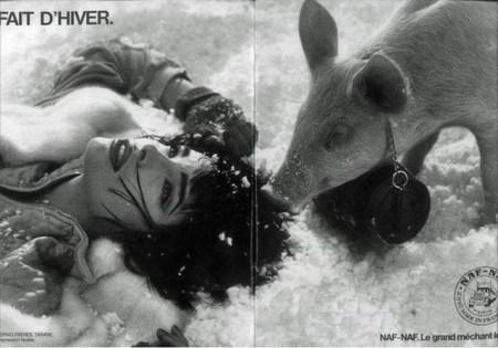 Publicité fait d'hiver 1985 Naf Naf