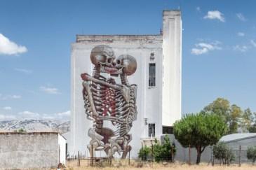 Squelettes amoureux, Nychos, 2019, Espagne