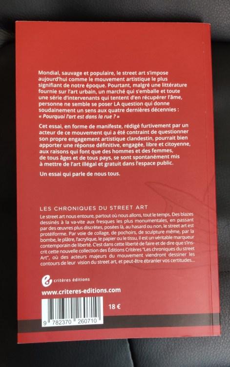 Pourquoi l'art est dans la rue ? De Codex Urbanus Critères Editions