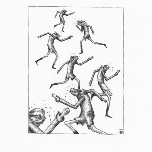 «Prolifération de coureurs» ©Phlegm 18 avril 2020