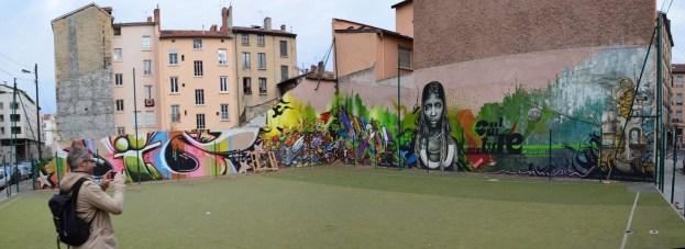 fresque 3 barons Lyon 7